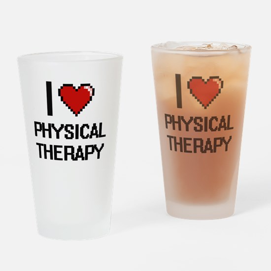 Cute Therapy heart Drinking Glass