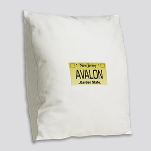 Avalon NJ Tag Giftware Burlap Throw Pillow
