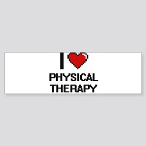 I Love Physical Therapy Digital Des Bumper Sticker