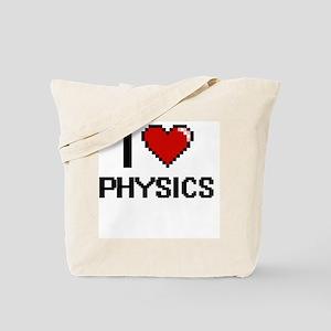 I Love Physics Digital Design Tote Bag