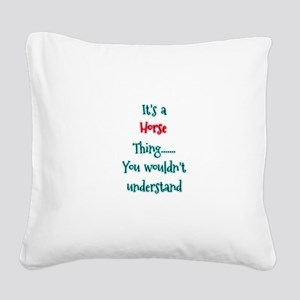 Horse Thing Square Canvas Pillow
