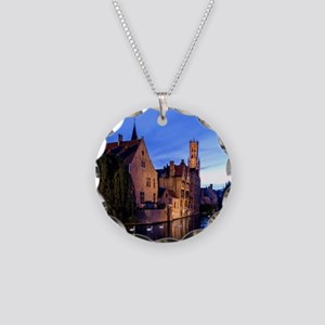 Stunning! Bruges Pro Photo Necklace Circle Charm