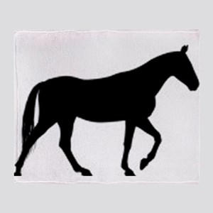 horse silhouette Throw Blanket