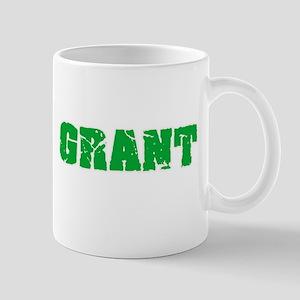 Grant Name Weathered Green Design Mugs