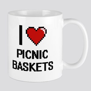 I Love Picnic Baskets Digital Design Mugs
