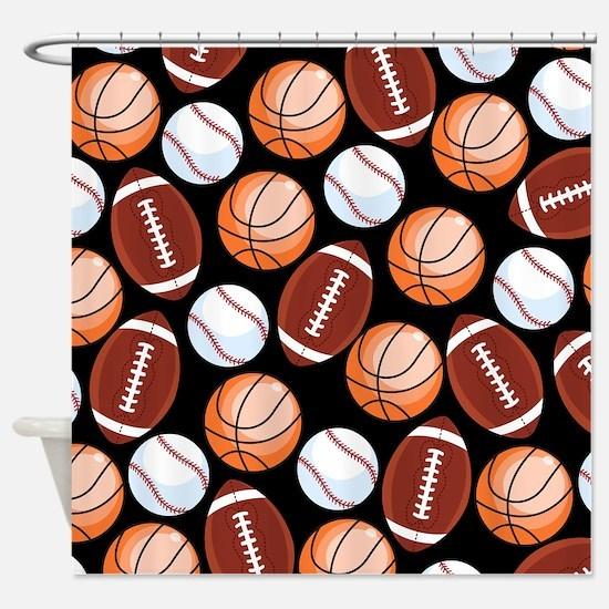 Cute Sports fan Shower Curtain