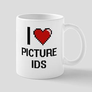 I Love Picture Ids Digital Design Mugs