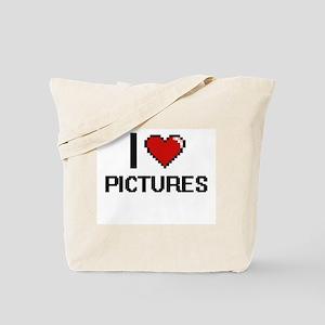 I Love Pictures Digital Design Tote Bag