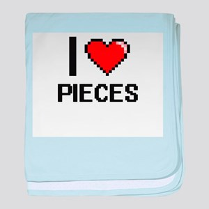 I Love Pieces Digital Design baby blanket