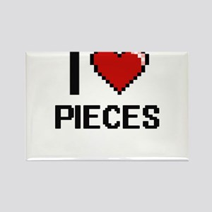 I Love Pieces Digital Design Magnets