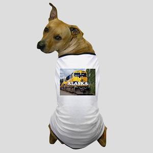 Alaska Railroad engine locomotive 2 Dog T-Shirt