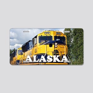 Alaska Railroad engine loco Aluminum License Plate