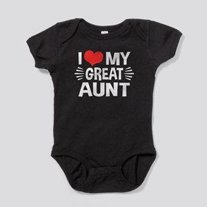 I Love My Great Aunt Baby Bodysuit
