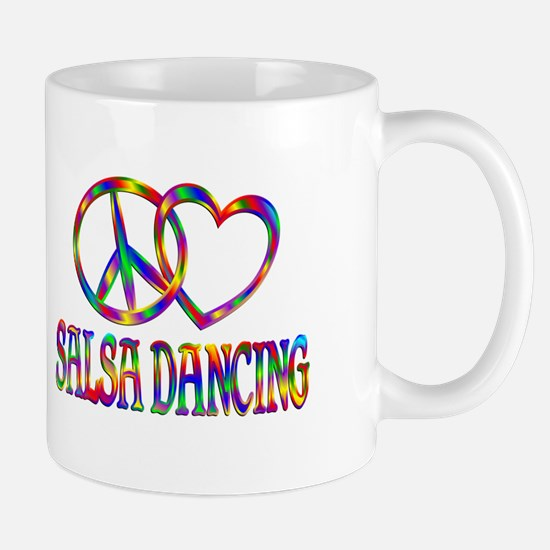 Peace Love Salsa Dancing Mug