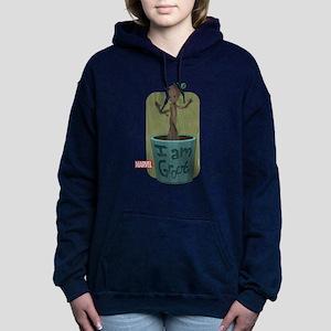 Guardians Baby Groot Women's Hooded Sweatshirt