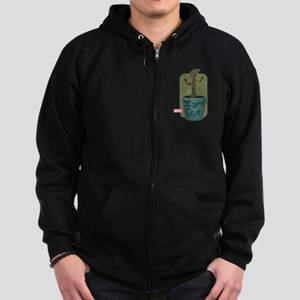 Guardians Baby Groot Zip Hoodie (dark)