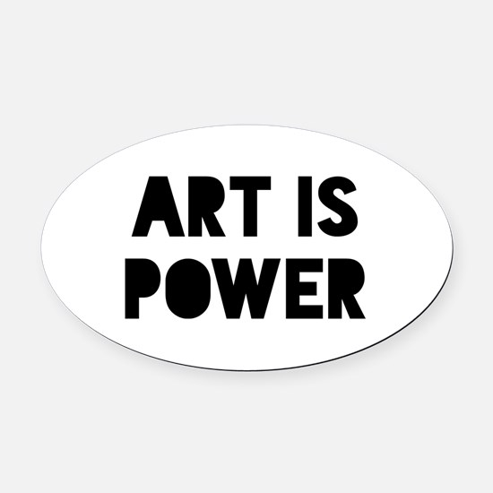 Art Power Oval Car Magnet