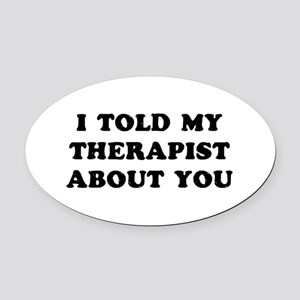 I Therapist Oval Car Magnet