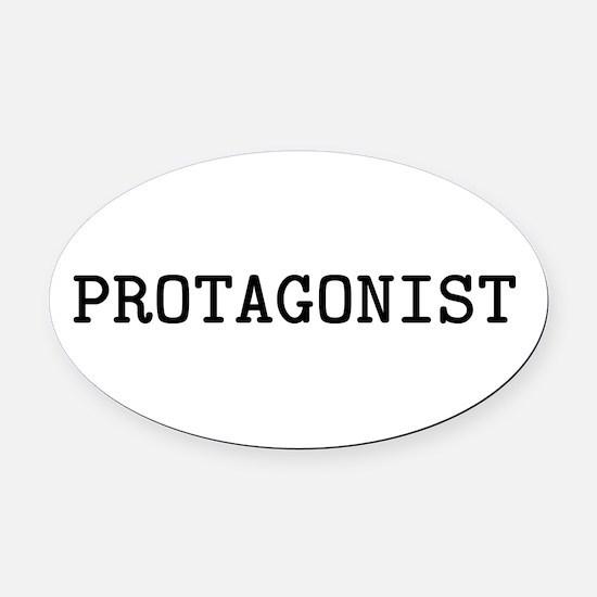 Protagonist Oval Car Magnet