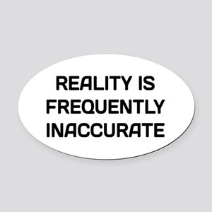 Reality Innacurate Oval Car Magnet