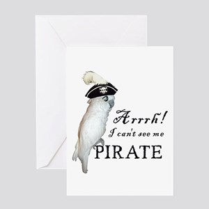 Pirate Cockatoo Greeting Card
