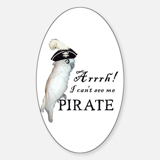 Pirate Cockatoo Oval Decal