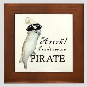 Pirate Cockatoo Framed Tile