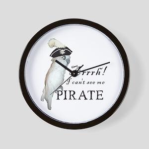 Pirate Cockatoo Wall Clock