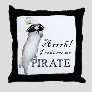 Pirate Cockatoo Throw Pillow