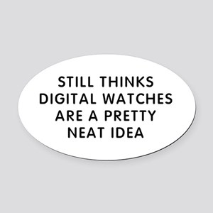 Still Digital Oval Car Magnet