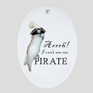 Pirate Cockatoo Oval Ornament