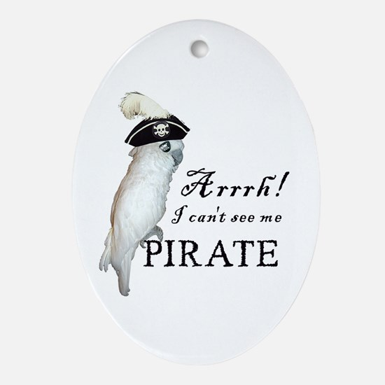 Pirate Cockatoo Oval Ornament