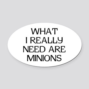 What Minions Oval Car Magnet