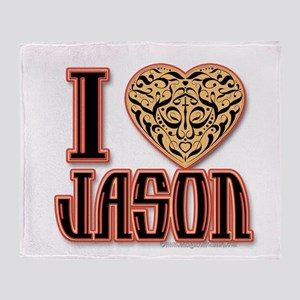 I Love Jason Throw Blanket