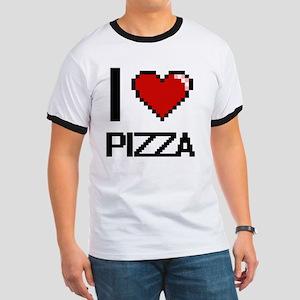 I Love Pizza Digital Design T-Shirt