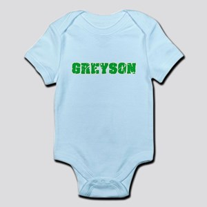 Greyson Name Weathered Green Design Body Suit