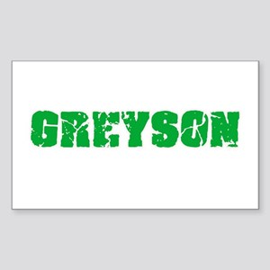 Greyson Name Weathered Green Design Sticker