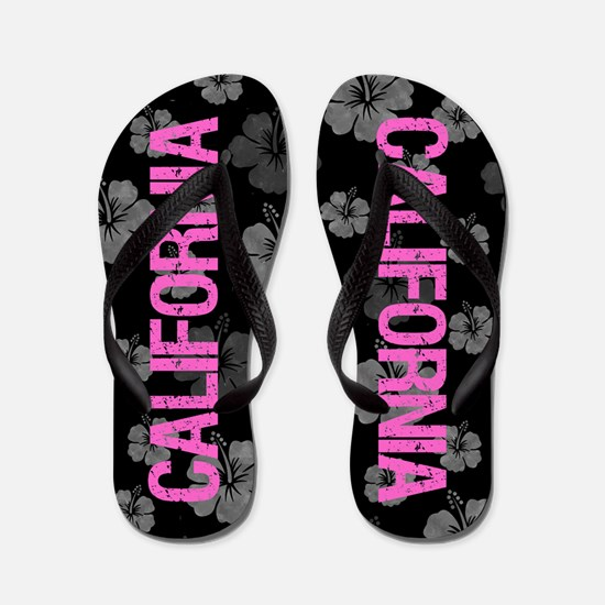 California Hot Pink Flip Flops