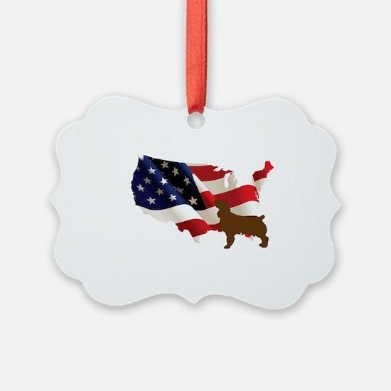 USA Proud Boykin Spaniel Ornament
