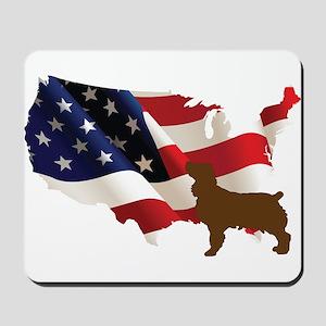 USA Proud Boykin Spaniel Mousepad