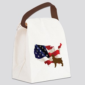 USA Proud Boykin Spaniel Canvas Lunch Bag