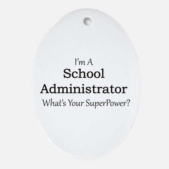 School Administrator Oval Ornament