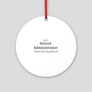 School Administrator Round Ornament