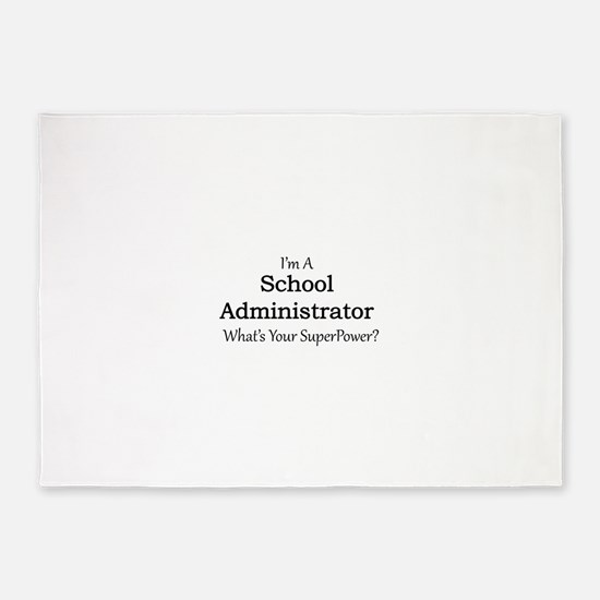 School Administrator 5'x7'Area Rug