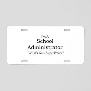 School Administrator Aluminum License Plate