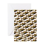 Humu Pattern Greeting Cards
