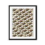 Humu Pattern Framed Panel Print