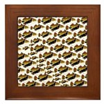 Humu Pattern Framed Tile