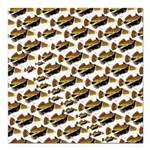 Humu Pattern Square Car Magnet 3