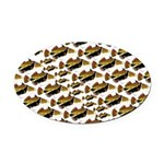 Humu Pattern Oval Car Magnet